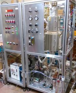 二段流動層反応器